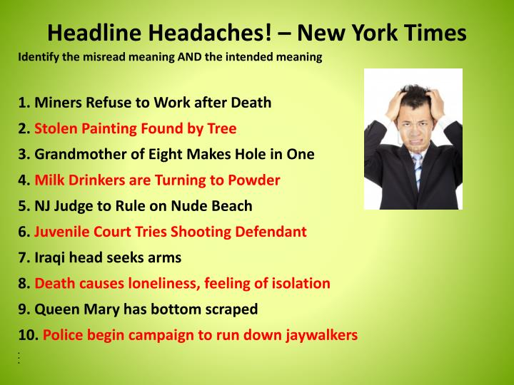 Headline Headaches