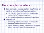 more complex monitors