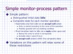 simple monitor process pattern