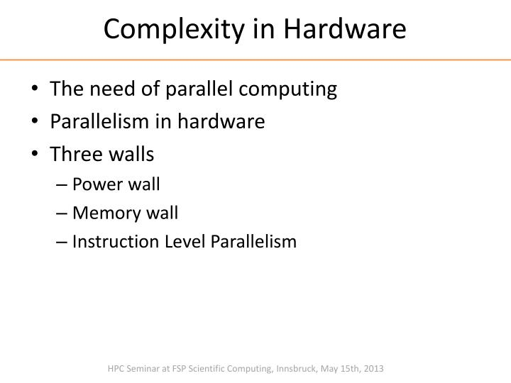 Complexity in