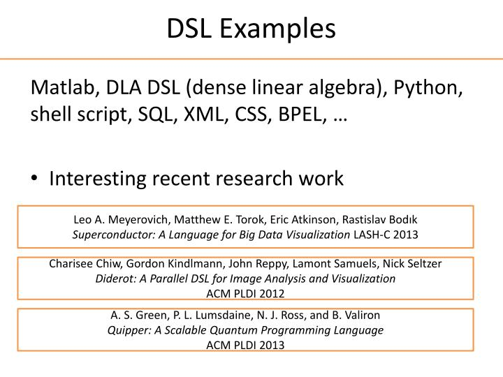 DSL Examples