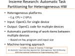 insieme research automatic task partitioning for heterogeneous hw