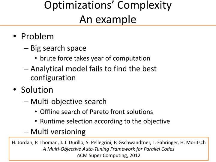 Optimizations'