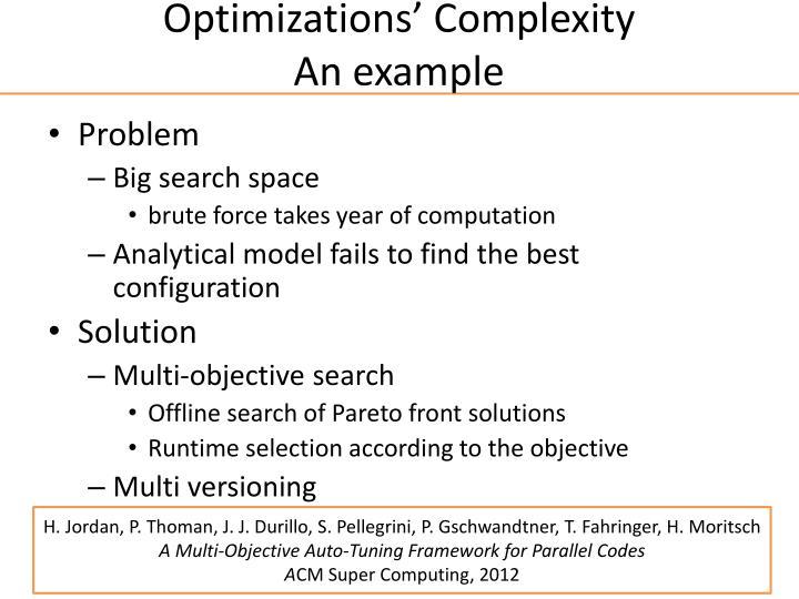 Optimizations'