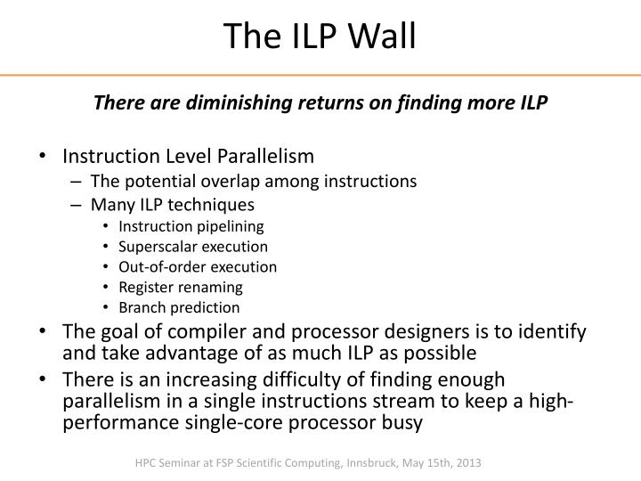 The ILP Wall