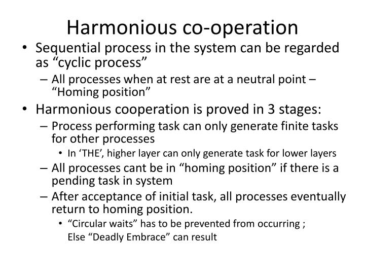 Harmonious co-operation