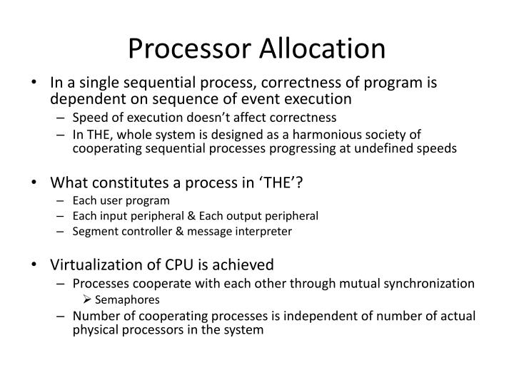 Processor Allocation