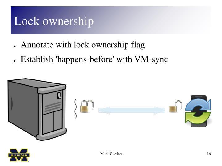 Lock ownership