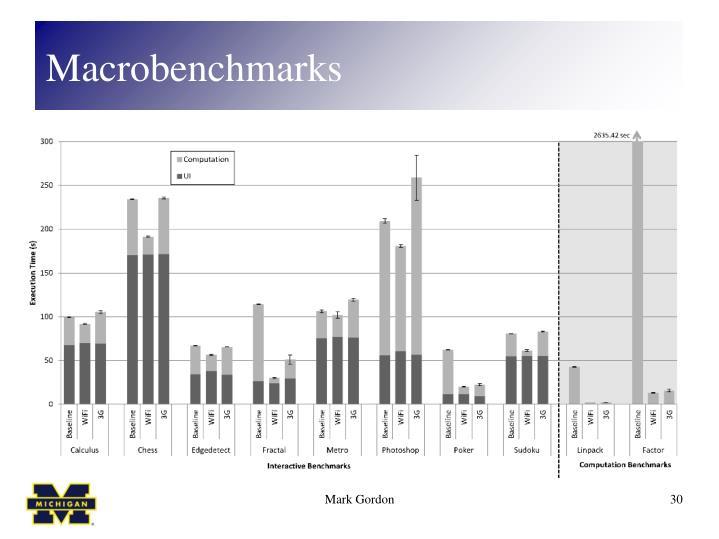 Macrobenchmarks