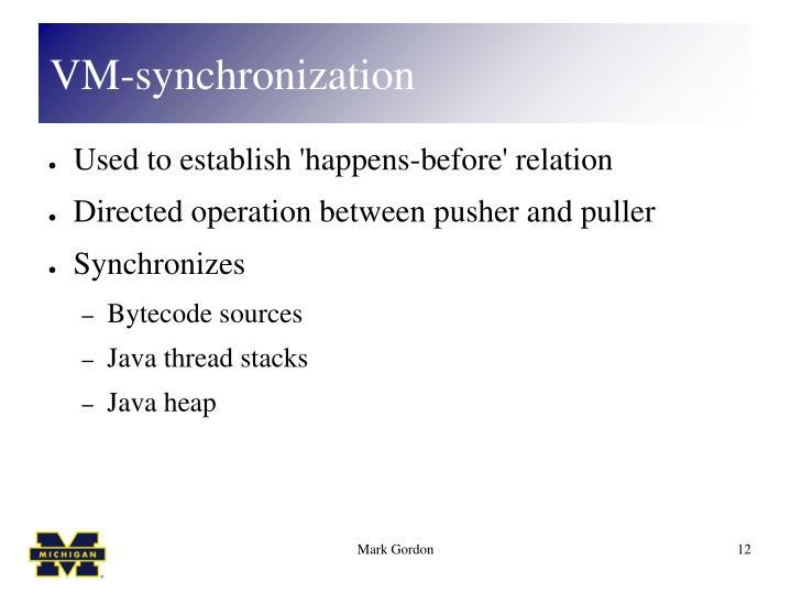 VM-synchronization