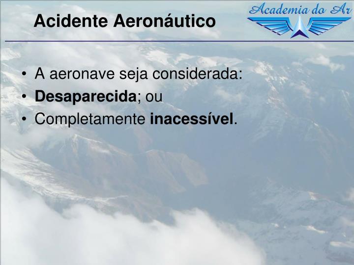 Acidente Aeronáutico