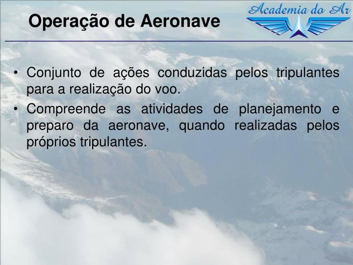 Operação de Aeronave