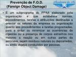 preven o de f o d foreign object damage