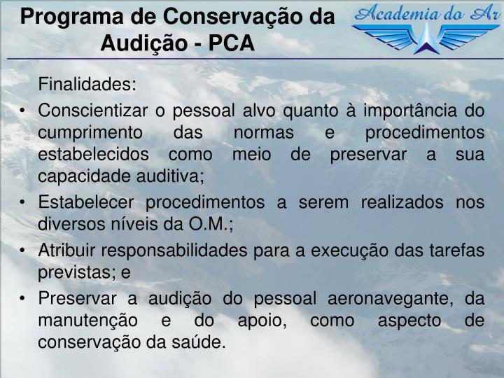 Programa de Conservação da Audição - PCA