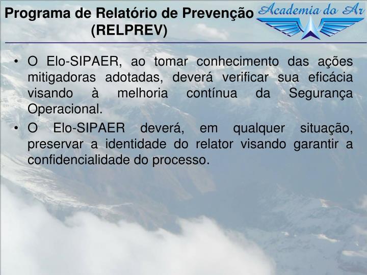 Programa de Relatório de Prevenção  (RELPREV)
