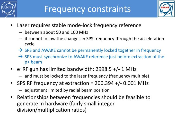 Frequency constraints