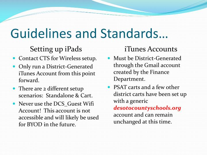 Guidelines and Standards…