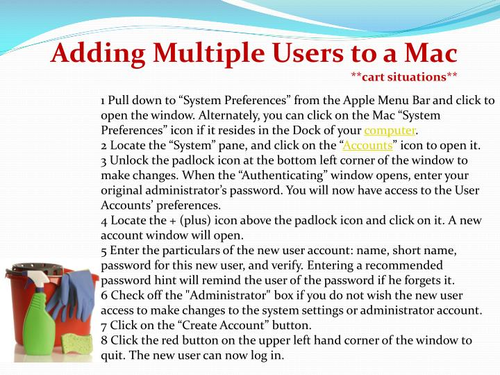 Adding Multiple Users to a Mac