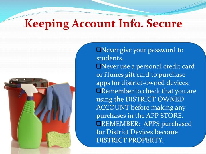 Keeping Account Info. Secure