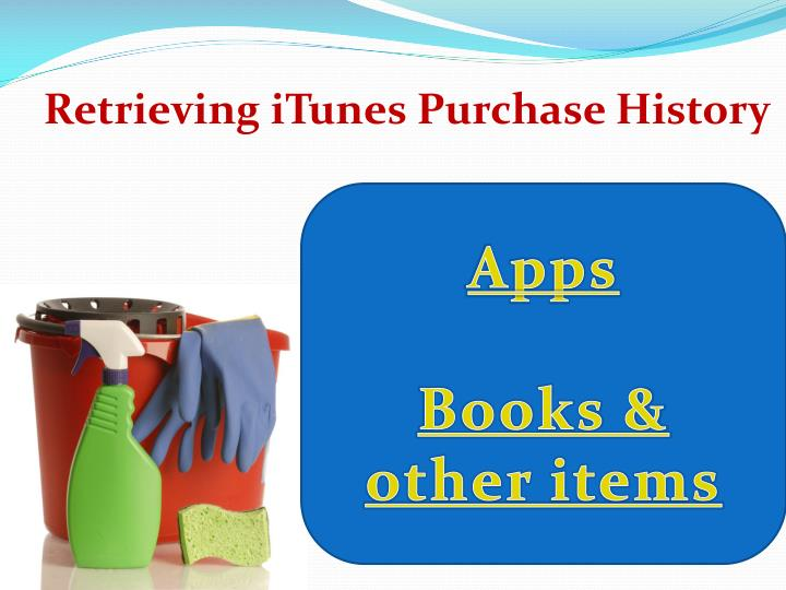 Retrieving iTunes Purchase History