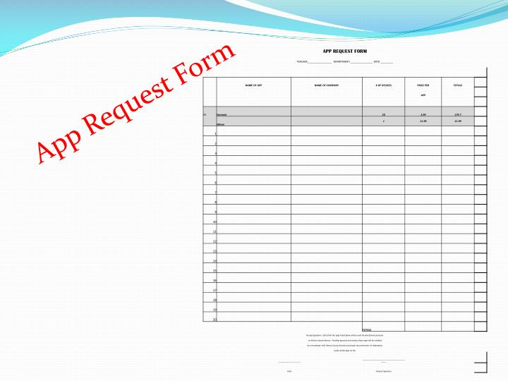 App Request Form