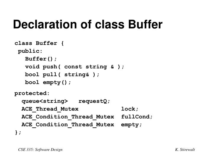 Declaration of class Buffer