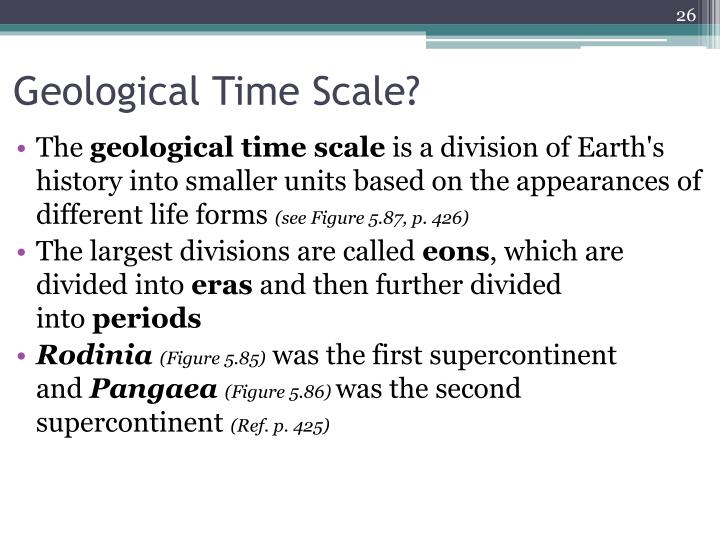 Geological Time Scale?