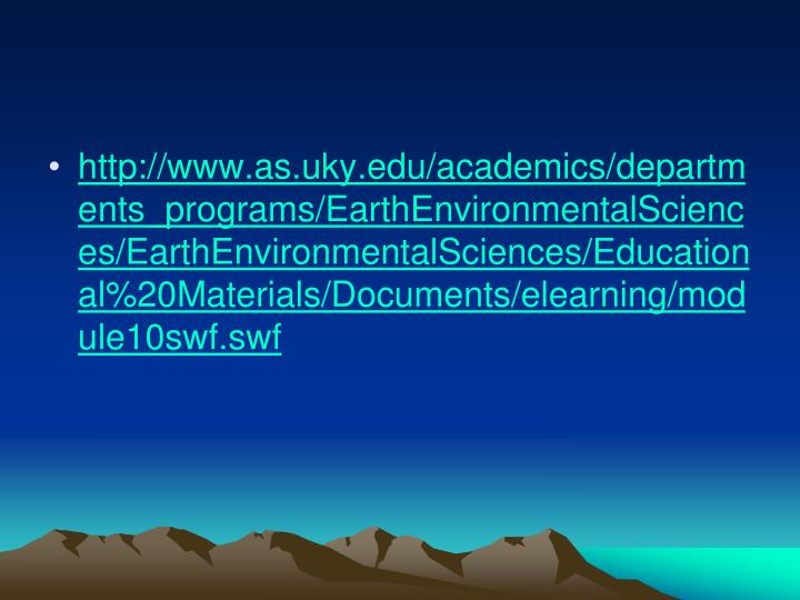 http://www.as.uky.edu/academics/departments_programs/EarthEnvironmentalSciences/EarthEnvironmentalSciences/Educational%20Materials/Documents/elearning/module10swf.swf