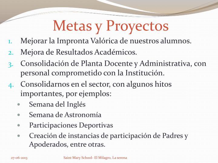 Metas y Proyectos
