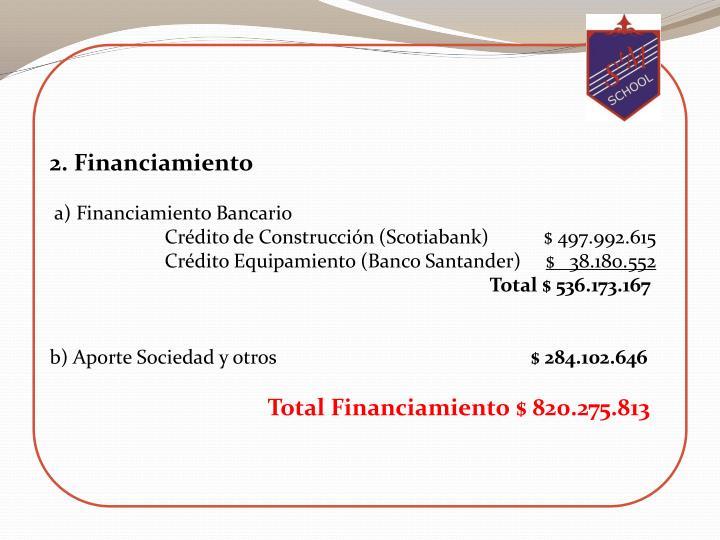 2. Financiamiento