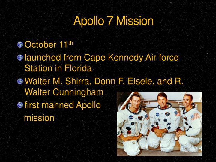 Apollo 7 Mission