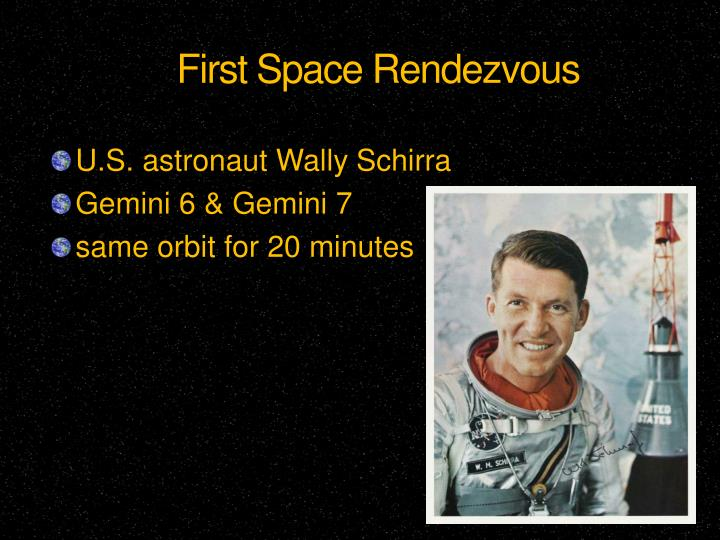 First Space Rendezvous