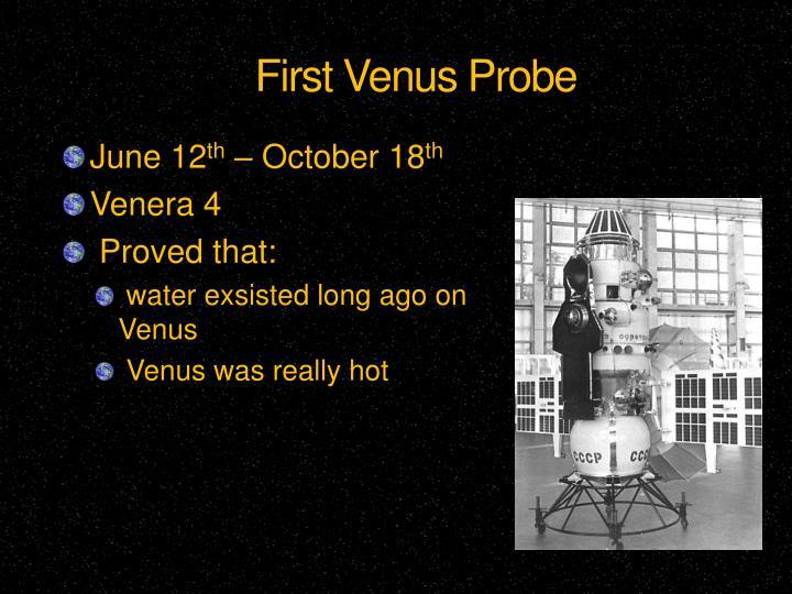 First Venus Probe