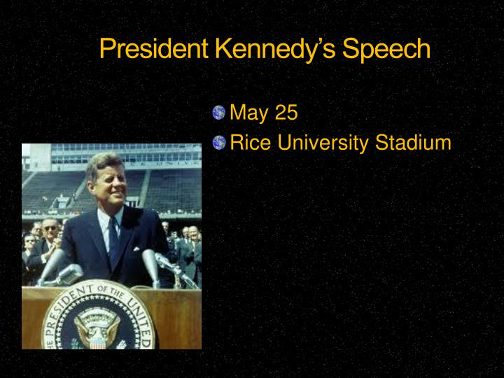 President Kennedy's Speech