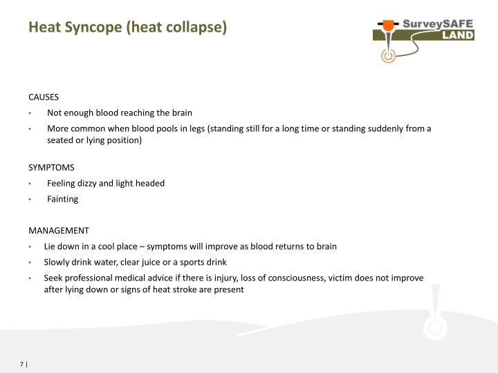Heat Syncope (heat collapse)