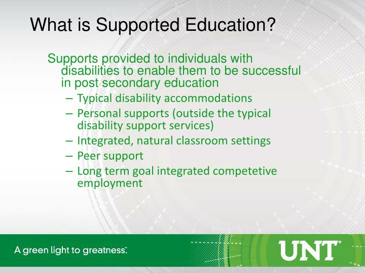 What is Supported Education?