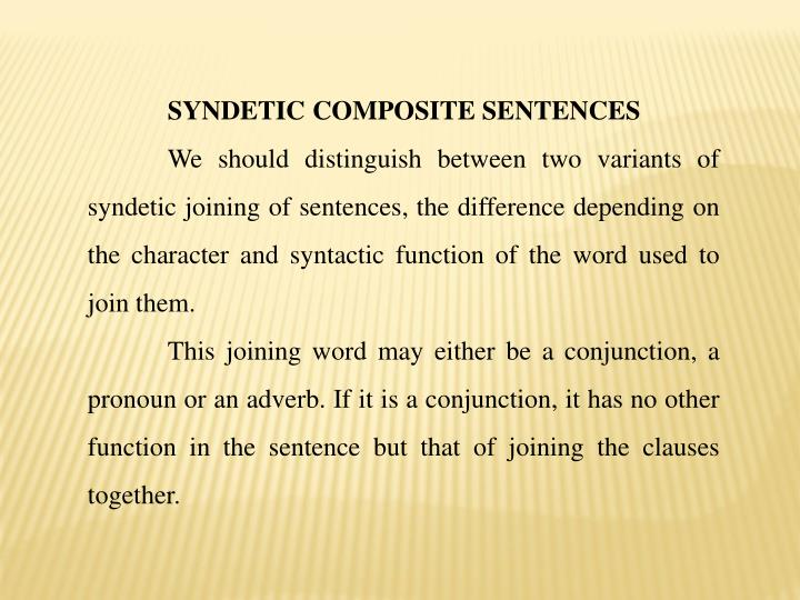 SYNDETIC COMPOSITE