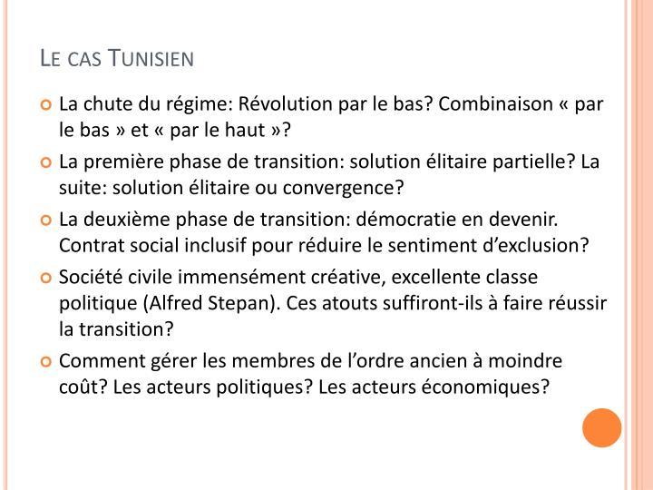 Le cas Tunisien