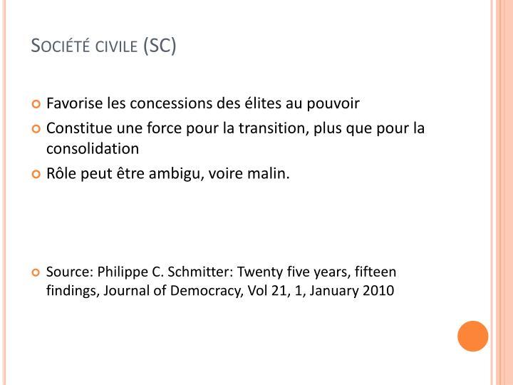 Société civile (SC)
