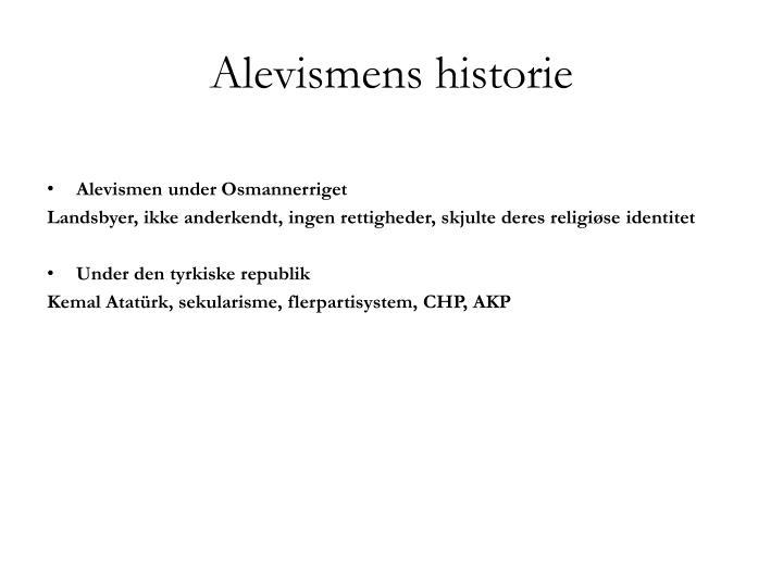 Alevismens historie