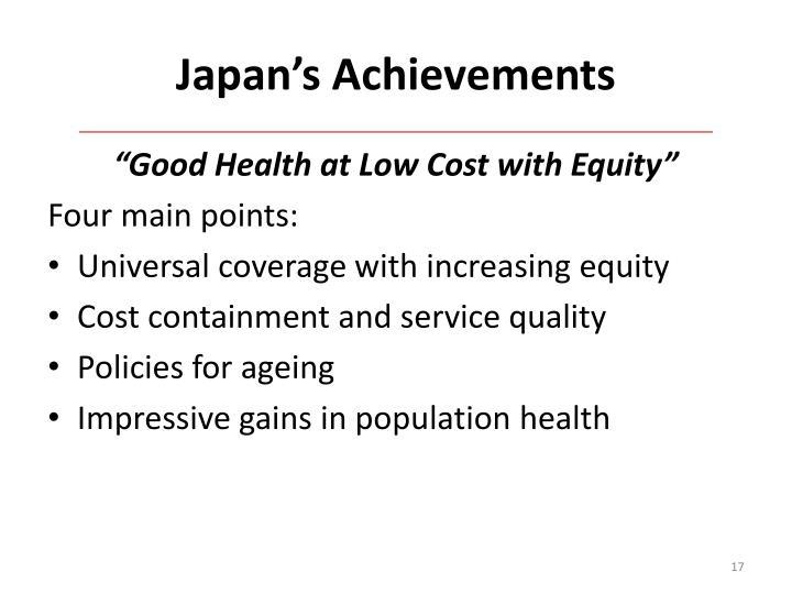 Japan's Achievements