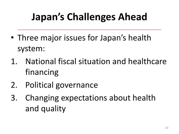 Japan's Challenges Ahead
