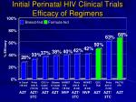 initial perinatal hiv clinical trials efficacy of regimens
