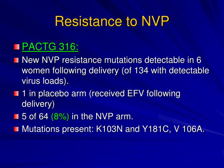 Resistance to NVP