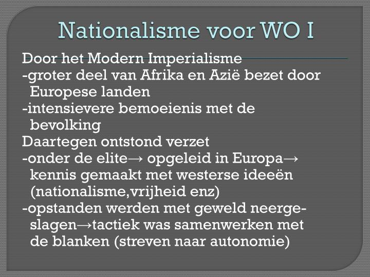 Nationalisme voor WO I