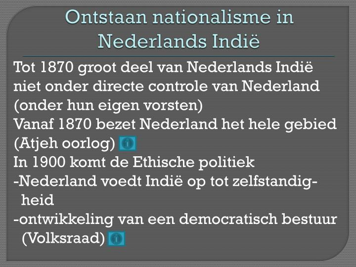 Ontstaan nationalisme in Nederlands