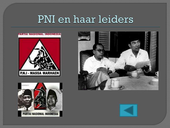 PNI en haar leiders