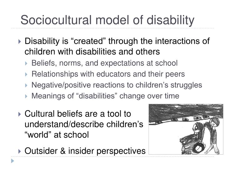 Sociocultural model of disability