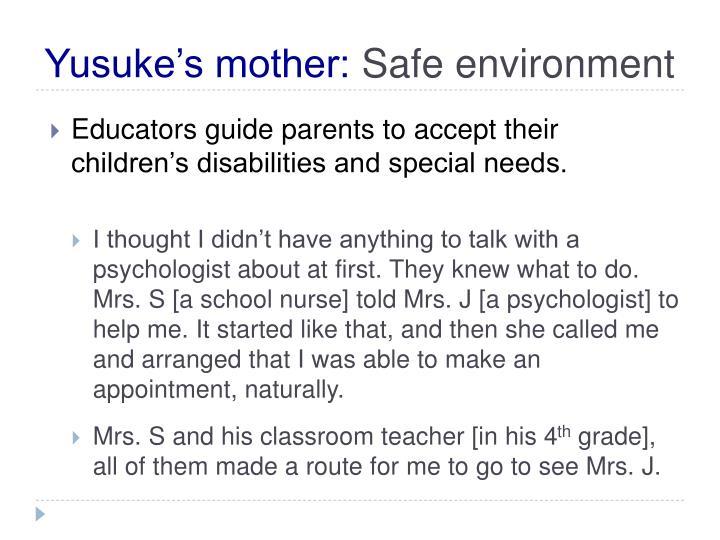 Yusuke's mother: