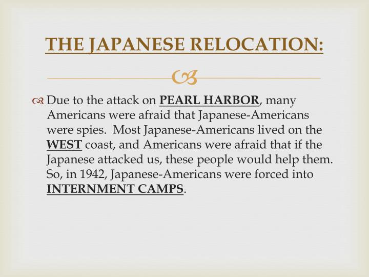 The japanese relocation1